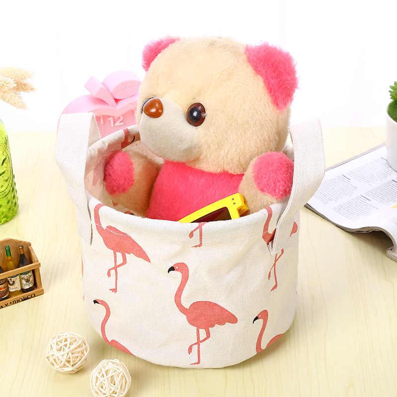 Корзина для хранения из хлопка и льна, игрушки, косметический Органайзер, кухонная сумка для мелочей, настольная простая коробка, отделочная корзина из ткани, TAOSCIL
