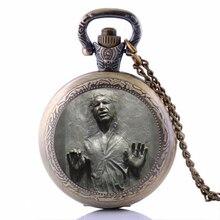Han Solo In Carbonite Pocket Watch Necklace, Star Wars penda