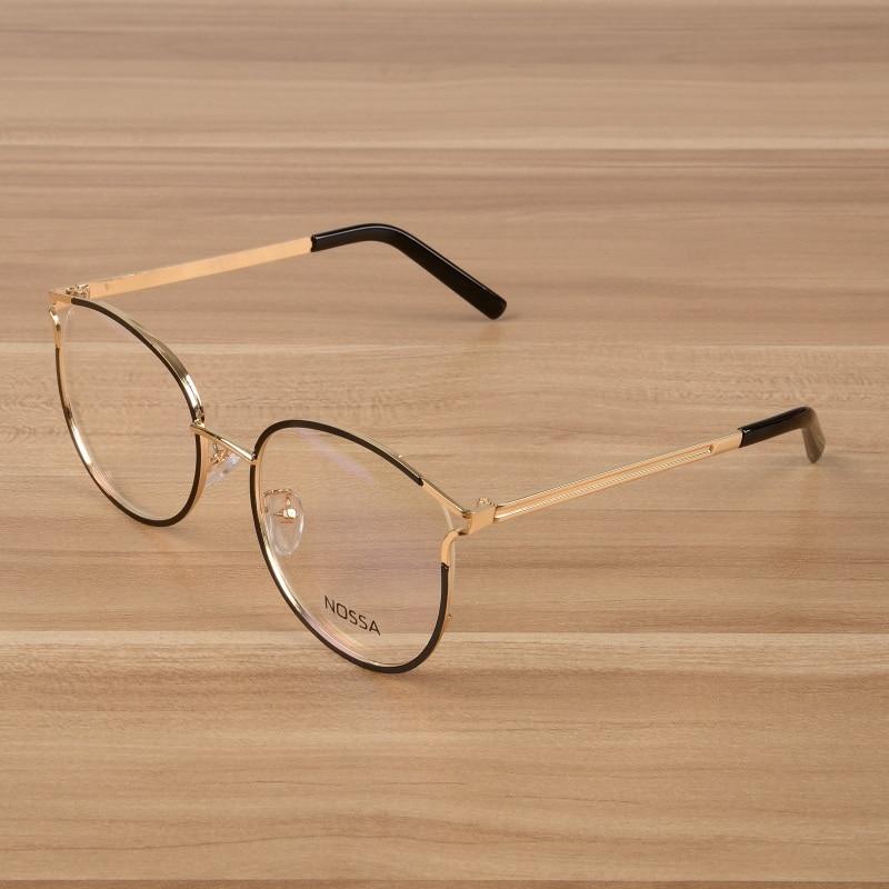 15591d25ad NOSSA Fashion Prescription Eyeglasses Frames Elegant Alloy Optical Frame  Women And Men Spectacles Unisex Myopia Glasses Frame-in Eyewear Frames from  Apparel ...