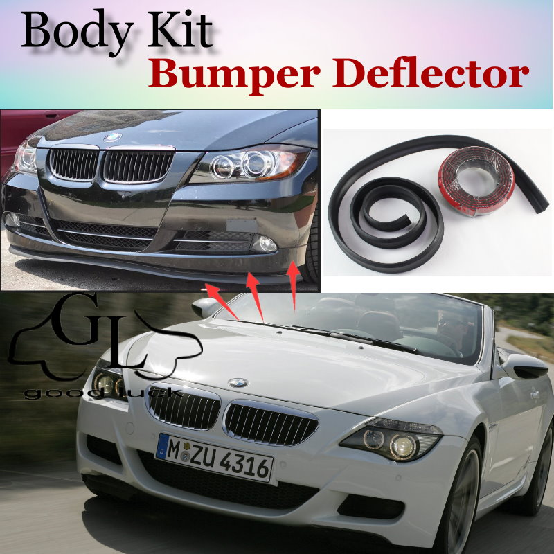 For <font><b>BMW</b></font> 6 M6 E24 E63 E64 F12 F13 <font><b>F06</b></font> Bumper Lip Lips / GOOD LUCK SHOP <font><b>Spoiler</b></font> For Car Tuning / TOPGEAR Suggest Body Kit + Strip image