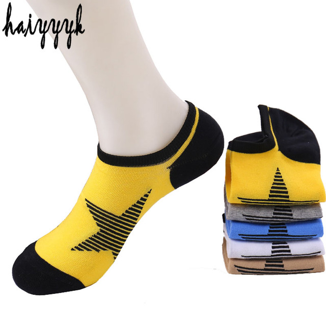 167dfa63f Homens meias meias invisíveis 10 pcs   5 par lote star modelos harajuku happy  socks