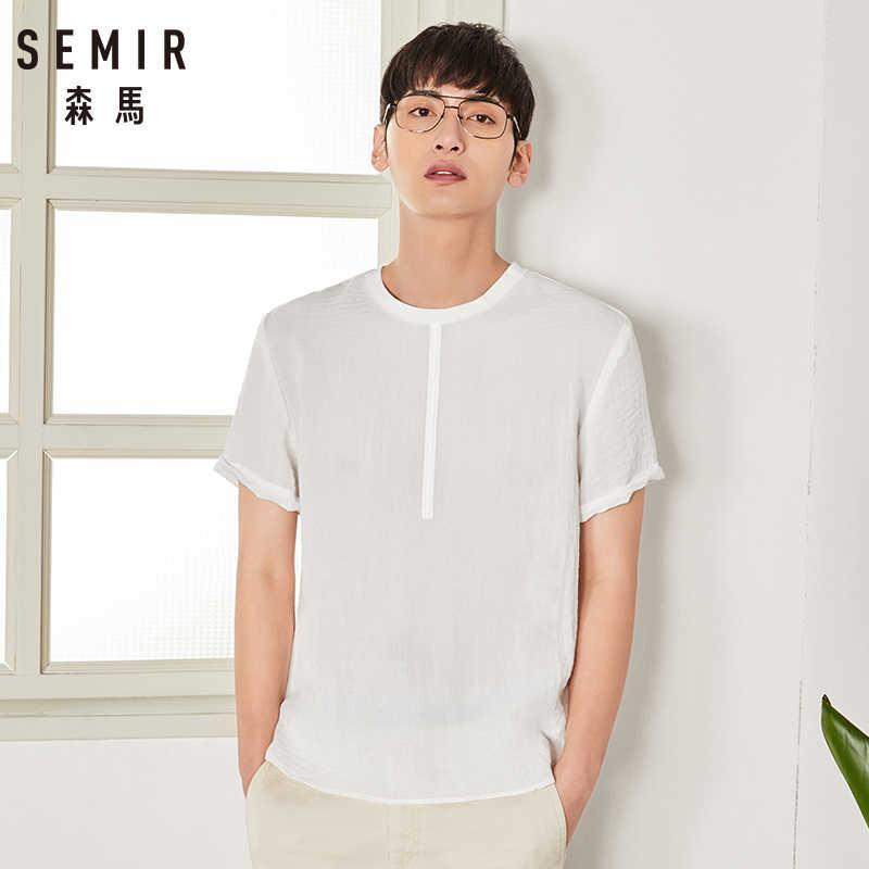 セミール半袖シャツ男性 2018 夏新白シャツ男性の韓国語バージョンハーフスリーブシャツルーズプラスの人格服