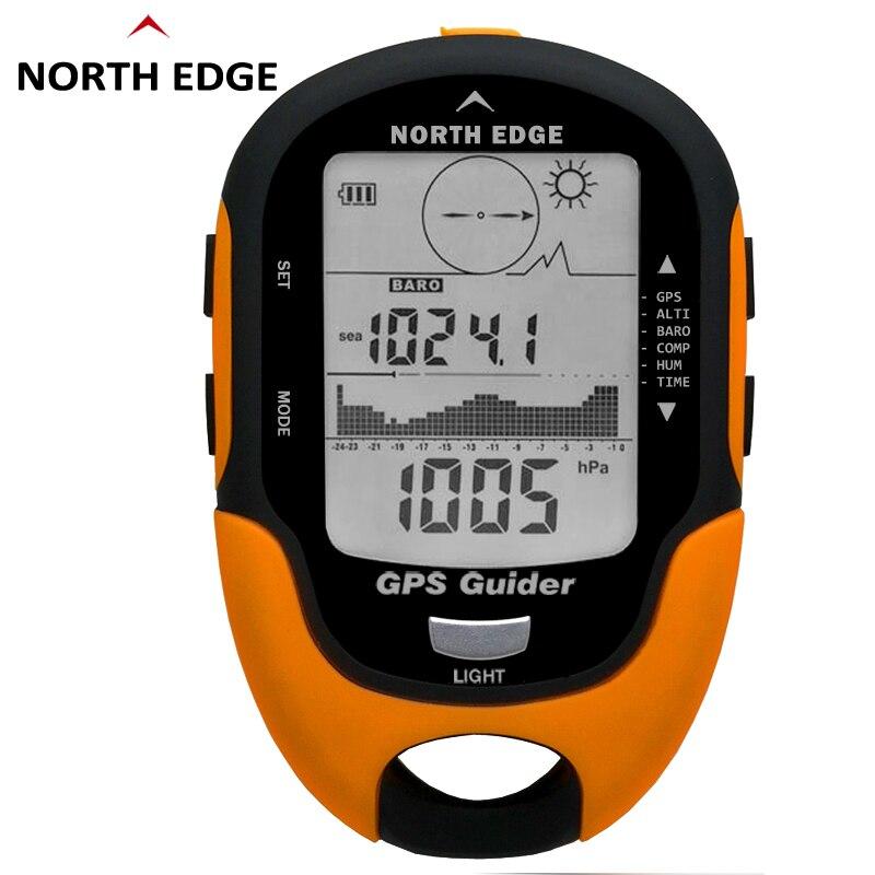 NORTH EDGE hommes voyage en plein air GPS Tracker localisateur trouveur Navigation récepteur portable altimètre baromètre boussole thermomètre