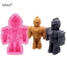 Gadgets-3D-Robot Flexible Silicone Soap Cake Molds Pudding Cupcake Baking Tools Suppliessilicone for fondant polymer clay