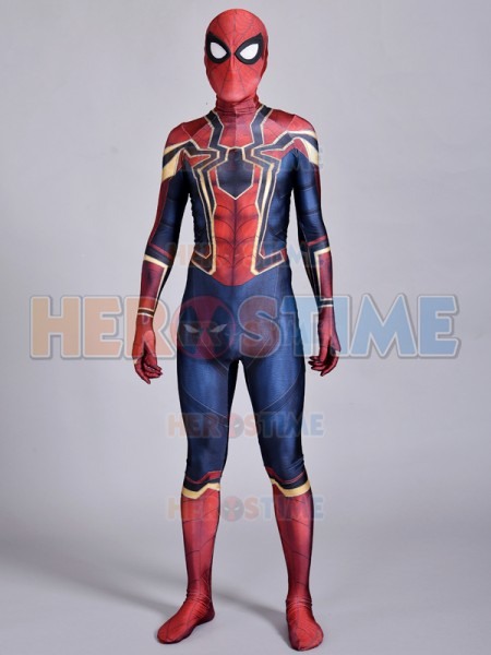 3D Print Avengers Infinity War Iron-Spider Spiderman Cosplay Costume Marvel Comics Spider-Man Iron Spider Suit Zentai Spidey