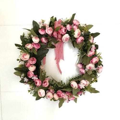 Christmas Heart Wreath.Us 13 98 1pc Door Hanging Garland Ornaments Heart Shaped Wreath Love Flower Wedding Christmas Wreath Wall Lintel Simulation In Wreaths Garlands