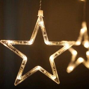 Image 5 - FENGRISE 12 星は窓のカーテンストリングライト Diy の結婚式の装飾屋外ガーランド誕生日パーティー祭の休日の装飾