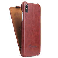Fierre Shann Vertical Flip Funda de cuero para iphone X de Apple XS XR XS Max Protector de teléfono Fundas Coque para iphone XR