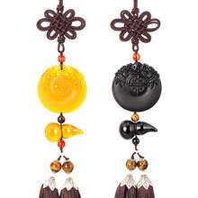 car decoration Creative interior pendant Obsidian gourd and tiger stone material freeshipping