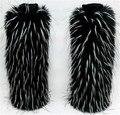Varejo Roma Aquecedores do Pé da Pele Do Falso das mulheres Inverno Quente 40 cm leg warmer Ankle Botas Sapatos Capa Cuff Furry Macio T-36