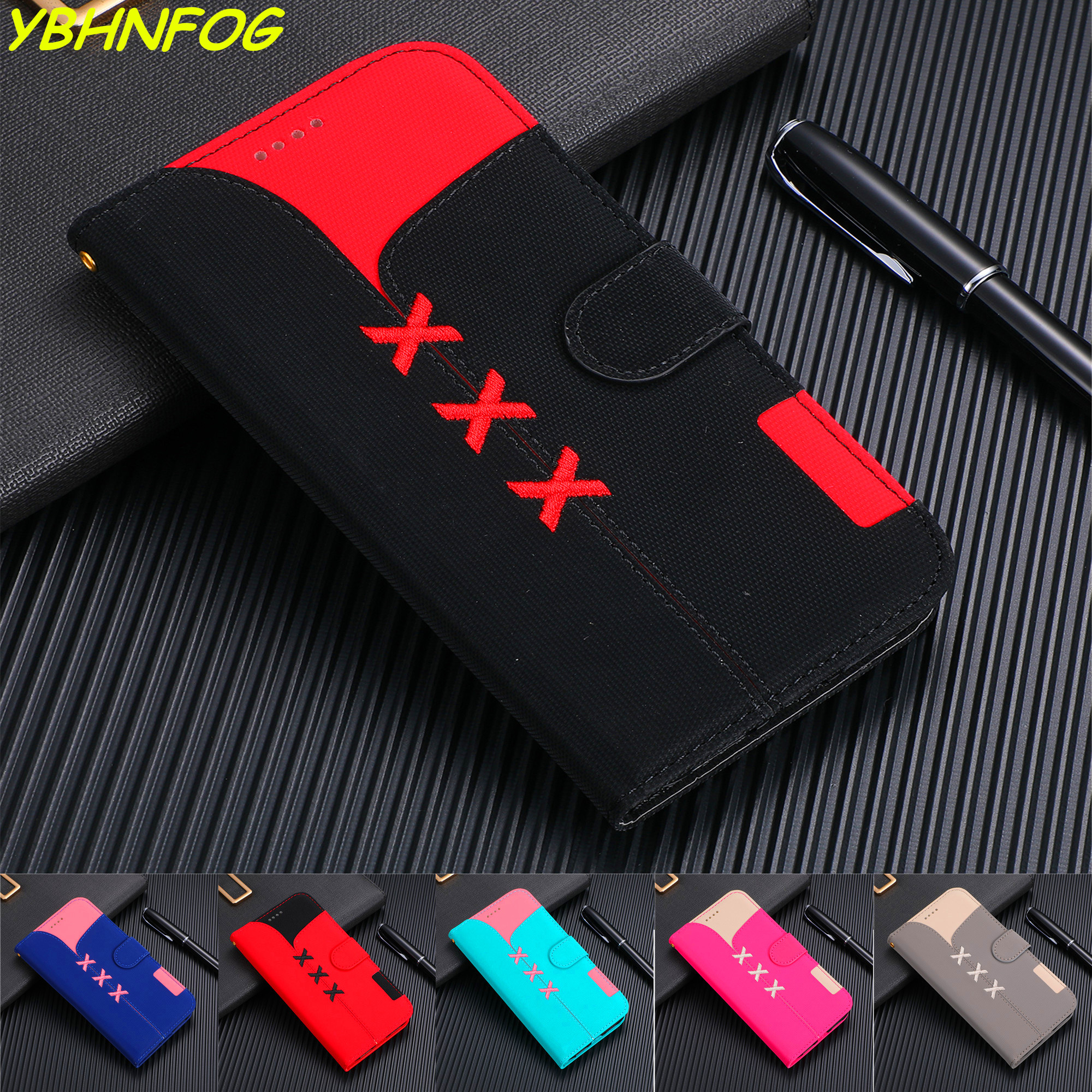 S8 S9 S10E Plus PU Leather Wallet <font><b>Case</b></font> For <font><b>Samsung</b></font> <font><b>Galaxy</b></font> A6 A7 <font><b>A8</b></font> A9 J4 J6 <font><b>2018</b></font> J3 J5 J7 A20 A30 A40 A50 A70 <font><b>Flip</b></font> Cover Coque image