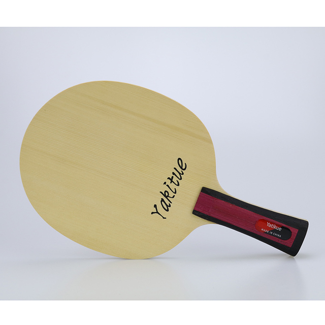 Yatikue Table Tennis Blade Racket Pingpong Fl Finished Bats Long Handle