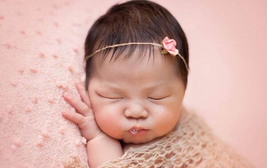 Wholesale bubble fabric knitted yards meters width 150cm pink newborn photography posing fabric