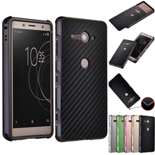 For Sony Xperia XZ2 Compact H8324 Case Aluminum Metal Frame+Carbon Fiber Back Cover Case for Sony Xperia XZ2 Compact Phone Shell сотовый телефон sony xperia xz2 compact silver
