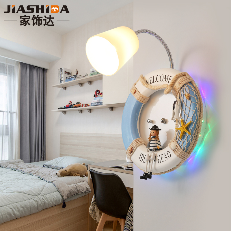 Modern Living Room Bedroom Bedside Wall Lamp Child Apple Acrylic 8W Led Light Sconce White Iron Home Lighting Fixtures 110-220V