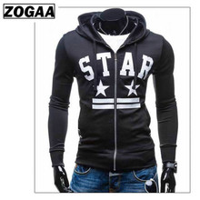 2019 Fashion Mens monogrammed hoodie zip coat  for spring and autmn ZOGAA