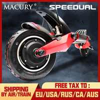 Macury Speedual 10 Inch Dual Motor Elektrische Roller 52 V 2000 W Off-road E-roller 65 km/h doppel Stick T10-ddm Null 10X Off Road