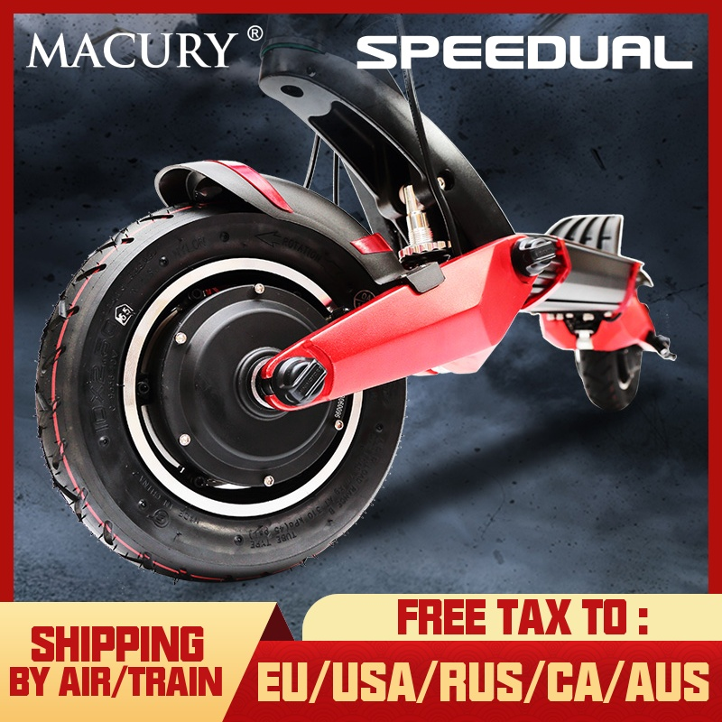 Macury Speedual 10 pouces Double moteur Scooter électrique 52 V 2000 W tout-terrain e-scooter 65 km/h Double entraînement T10-ddm zéro 10X hors route