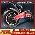 Macury speed ual 10 дюймов двойной электроскутер 52 V 2000 W внедорожный e-скутер 65 км/ч двойной привод Высокая скоростной самокат внедорожный