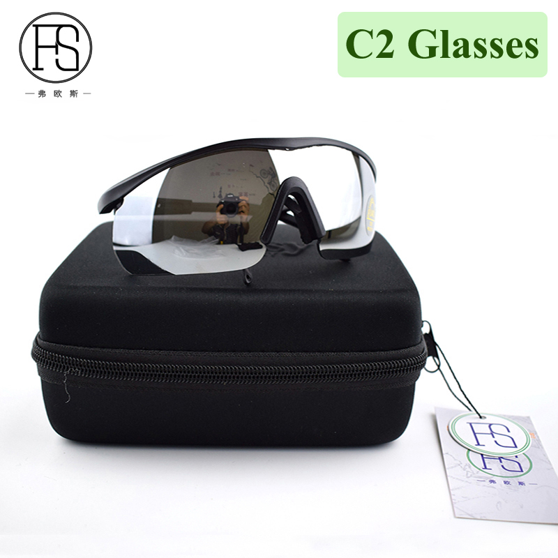 Hot!C2 Glasses Airsoft Tactical Goggles Outdoor Sports Sunglasses Men Hunting Hiking Glasses UV400 Protection Travelling Glasses