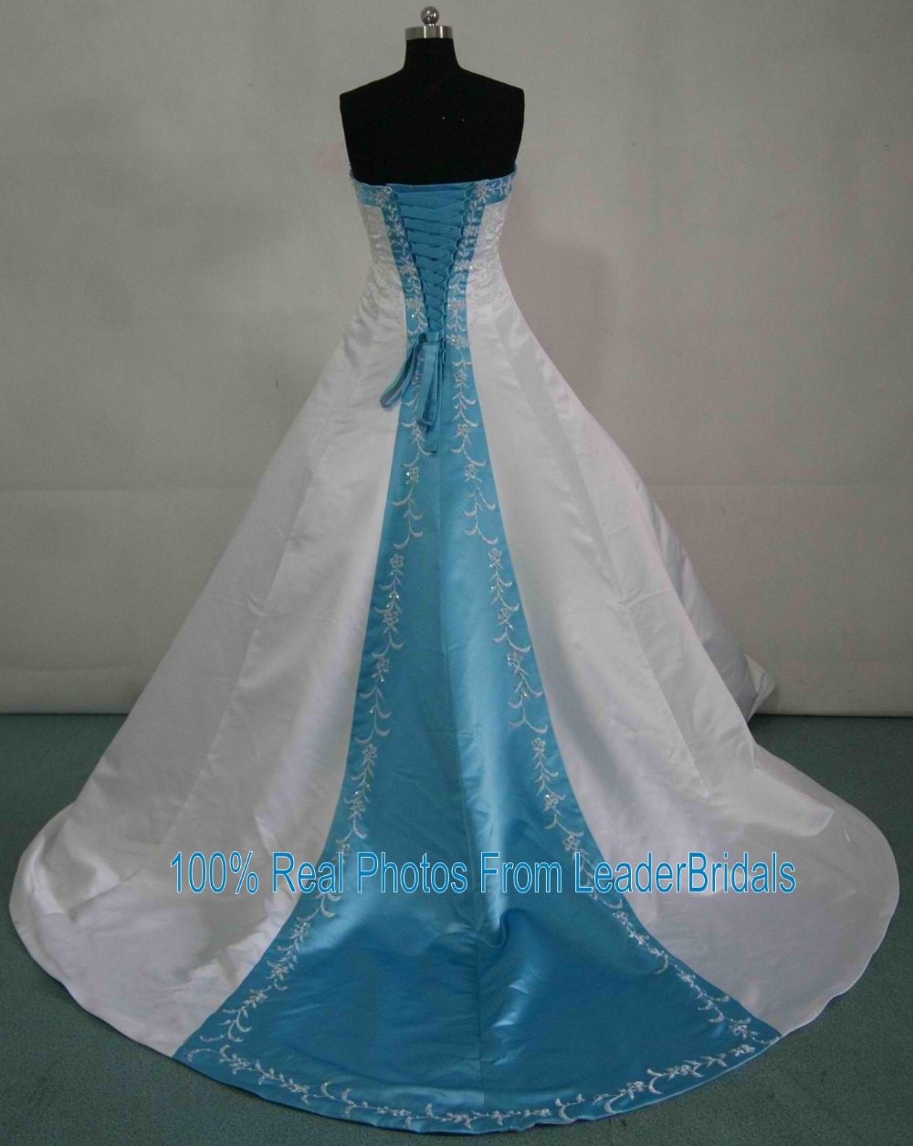 New Wedding Dresses White Ivory Blue Green Purple Red Satin ...