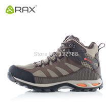 Rax Genuine Cowhide Leather Waterproof Hiking Shoes Men Sneakers Warm Outdoor And Hiking Boots Sport Climbing Shoes D0539