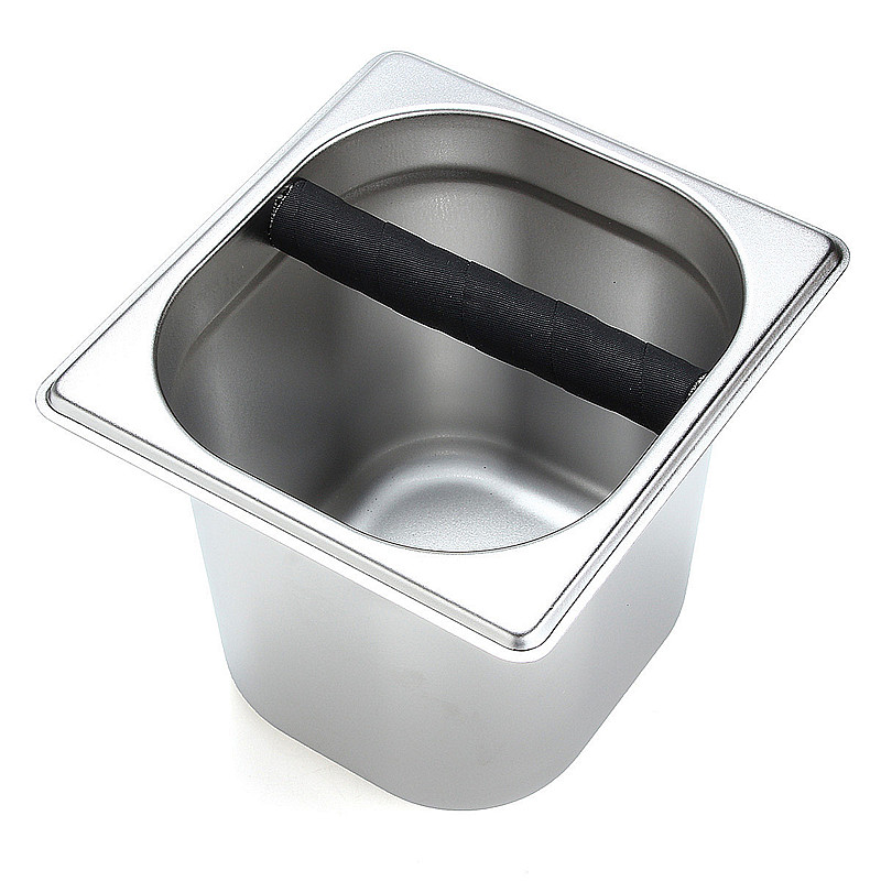 Coffee Espresso Grounds Residue Knock Box Stainless Steel Coffee Bucket for Barista Coffee Grounds Container With