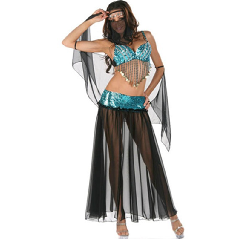 Hot Sale Fashion Epypt Sequin Blue and Black Belly Dance Costume Performance Costume for Women Fancy Dance Dress Outfit L1356 L1356(7) 800x800