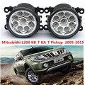 Para mitsubishi l200 kb_t ka_t pickup 2005-2015 car styling ccc e2 4300-1wk levou luzes de nevoeiro drl 1 conjunto