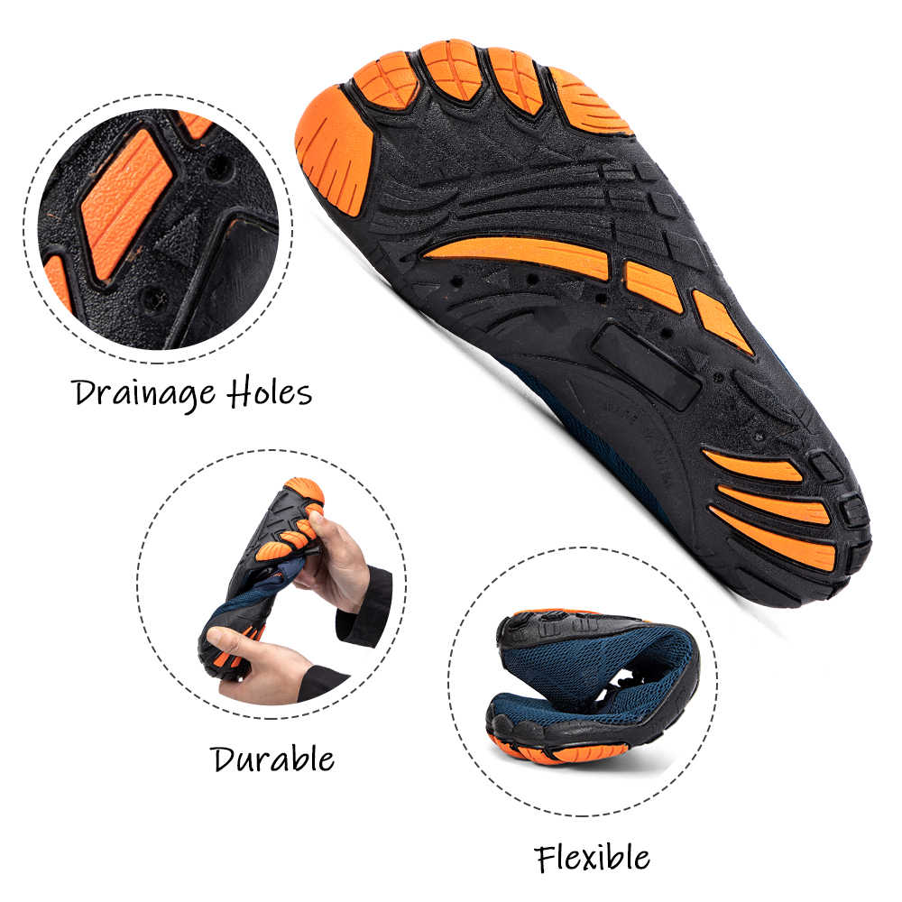 Летняя обувь для воды мужские пляжные сандалии спортивная обувь мужская быстросохнущая река море тапочки дайвинг носки для купания Tenis Masculino