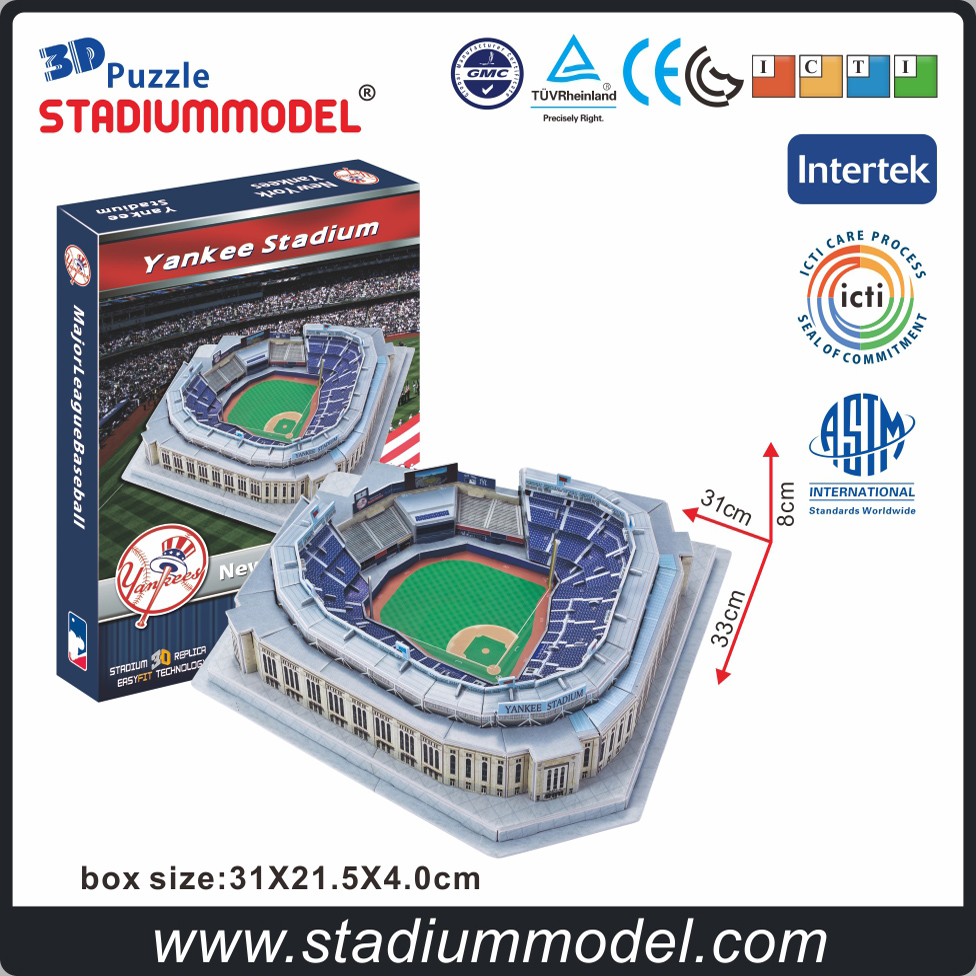 MajorLeagueBaseball MLB Yankee  Stadium 3D Puzzle Model Paper DIY Model Collection Toys Gift