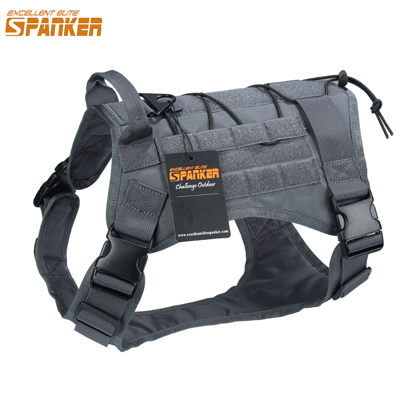 UITSTEKEND ELITE SPANKER Hondenkleding Tactical Dog Vest Military Training Honden Single Pieces Battle Version Vests of Dog Clothes