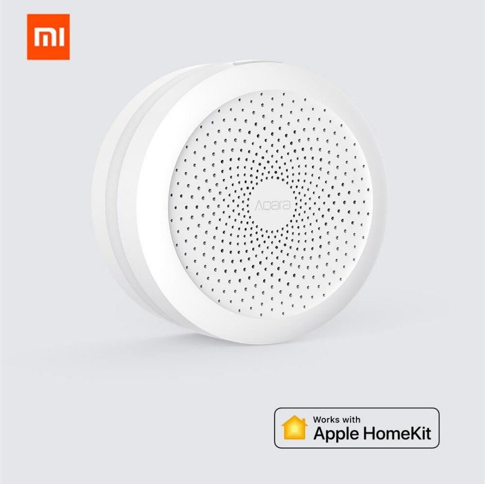 Original xiaomi mijia aqara Hub, Xiaomi Mi gateway con luz nocturna Led trabajo inteligente para Apple Homekit, Edición Internacional