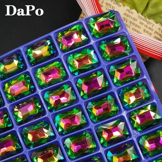Glisten Pointback Glass Crystal Rectangle Octagon Shape Rainbow Color Fancy  Rhinestones For Jewelry Making ba338dd1759e
