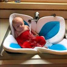 New Blooming Bath Flower Bath Tub for Baby Blooming Sink Bath For Baby Infant Sink Shower Flower Play Bath Sunflower Cushion Mat