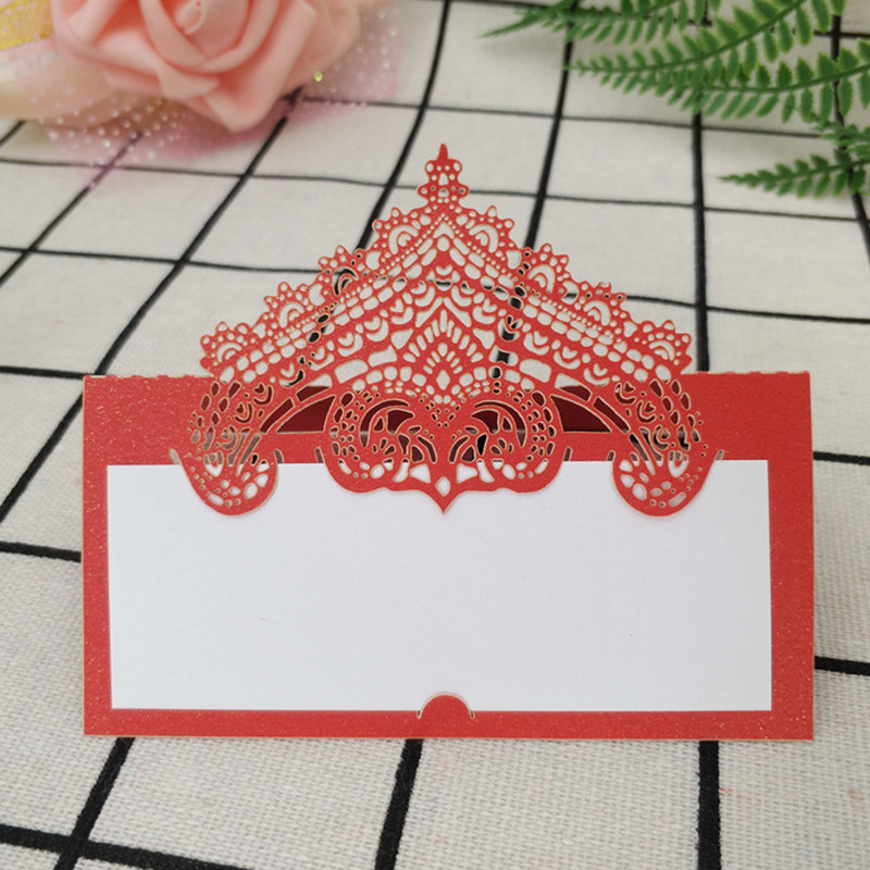 9*9 CM 50pcs Laser Cut Seat Card Vintage Table Number Name Card Place Cards Wedding Baby Shower Birthday Party Decoration 5Z