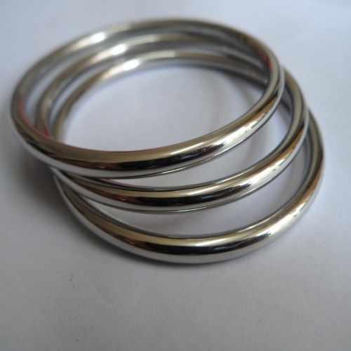 6 шт оптом нержавеющая сталь 4 мм широкий твердый тяжелый Гладкий Браслет-манжета 58 мм-68 мм Внутренний выбор Серебряный для мужчин и женщин