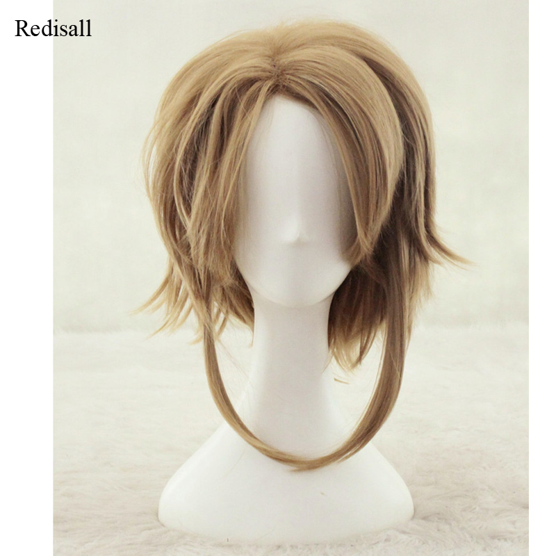 Adult The Legend Of Zelda Link Brown Wig Cosplay Halloween Role Playing Hair Unisex