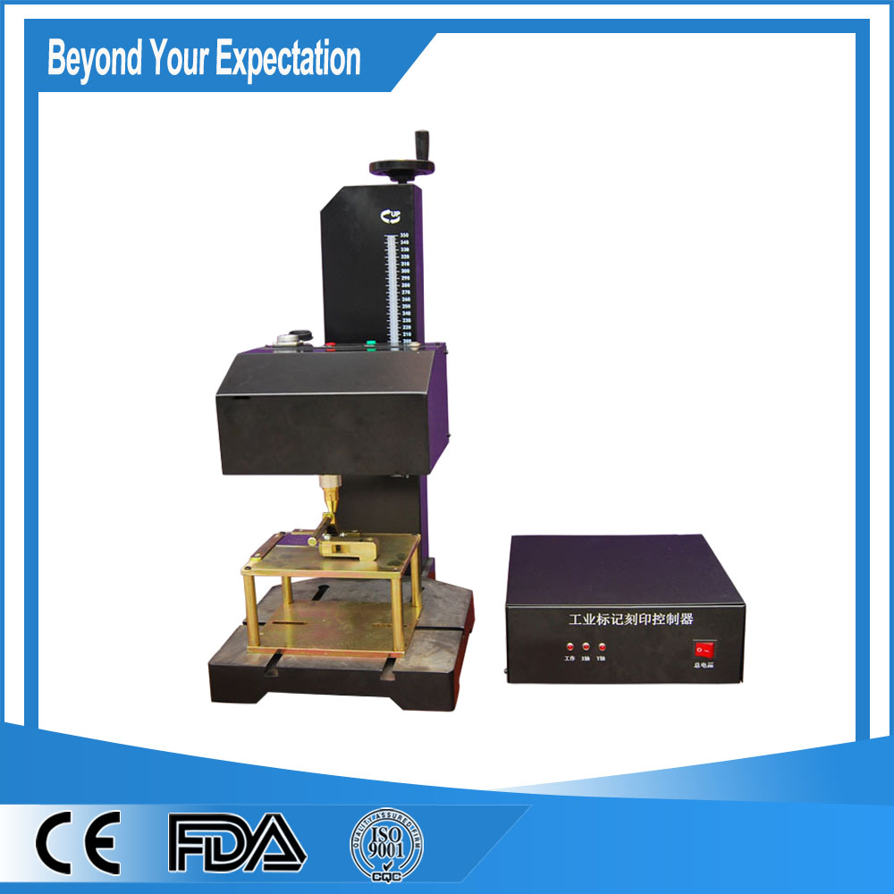 Factory price hot sale pneumatic dot peen marking metal plate dot pin engraver machine price