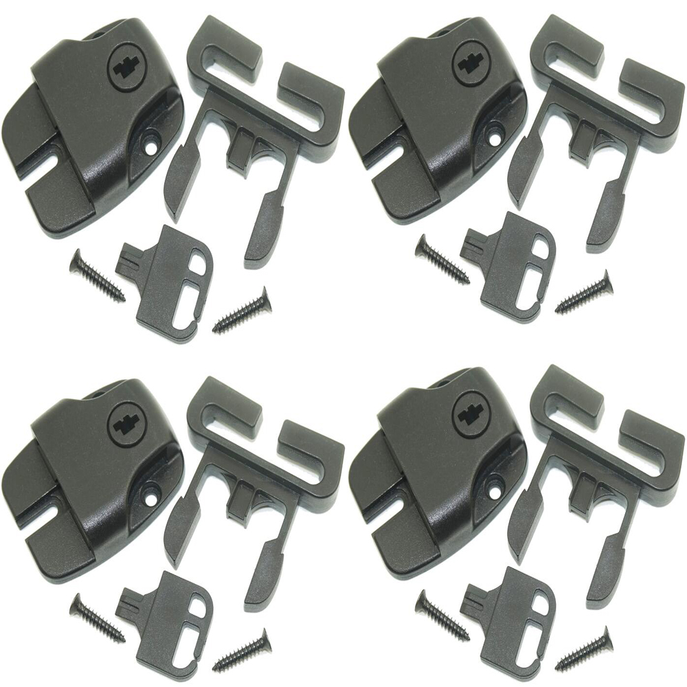 8pcs Spa Hot Tub Cover Broken Latch Repair Kit Clip Lock with key and hardware with strap Latch Buckles + Keys + Screws