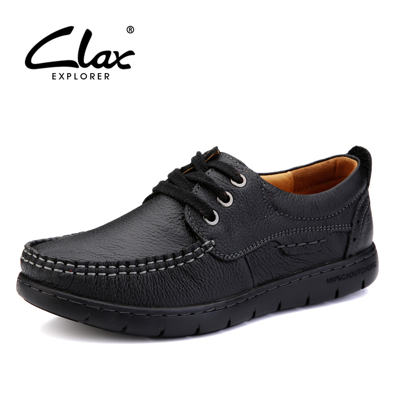 CLAX Women Autumn Shoes 2017 Genuine Leather Shoes lady Casual Walking Footwear Soft Comfortable Retro Mother Leisure Shoe claladoudou spring autumn children sneakers genuine leather red girls running shoes waterproof comfortable boys walking shoe kid