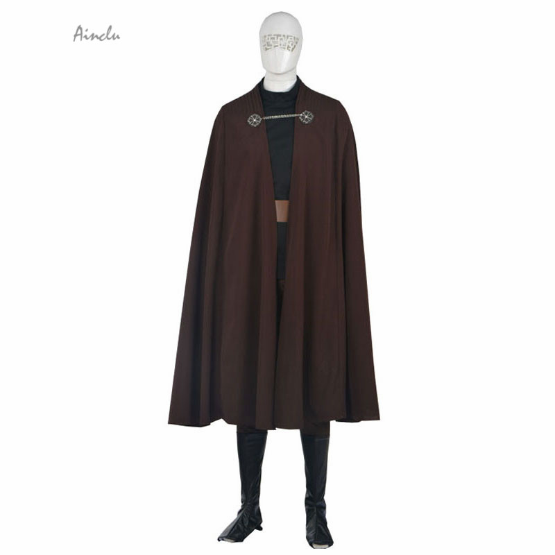Ainclu Customize for Adult Brown Star Wars Count Dooku/Darth Tyranus Adult Cosplay Costume  For Halloween  Christmas