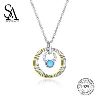 2fefd28ac133 Qevila nueva moda collares joyería geométrica gargantilla collares de cadena  de Opal triángulo colgante collares para mujeres regalo de amante