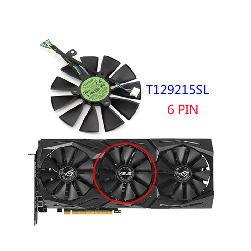 Image 5 - 87mm T129215SH T129215SL 12V 0.30A Fan For ASUS ROG STRIX RTX 2070 O8G GAMING RTX2060 O6G Graphic Card Cooling Fan-in Laptop Cooling Pads from Computer & Office