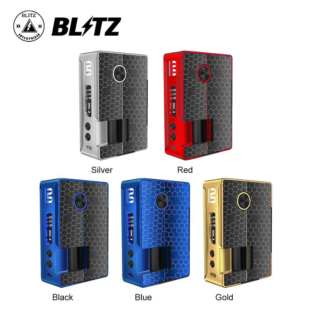 D'origine Blitz Vigueur 81 W TC Squonk MOD avec 10 ml bouteille de silicone et 0.91 Pouces OLED Écran Pas de Batterie Ecig vapoteuse VS Glisser 2