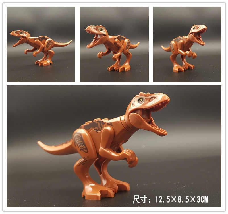 1 шт. Юрский Мир динозавров парк динозавров Raptor Защитная зона Строительные блоки Набор детских игрушек совместимый с Juguetes