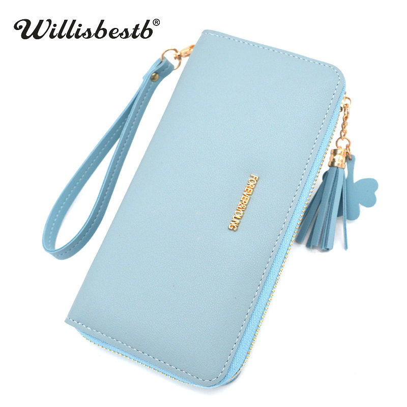 New 2018 Brand Ladies Leather Women Wallets Female Purse Luxury Girl Long Zipper Woman Wallet Card Holder Clutch Carteras Mujer fish shaped ombre handle eye brush 11pcs
