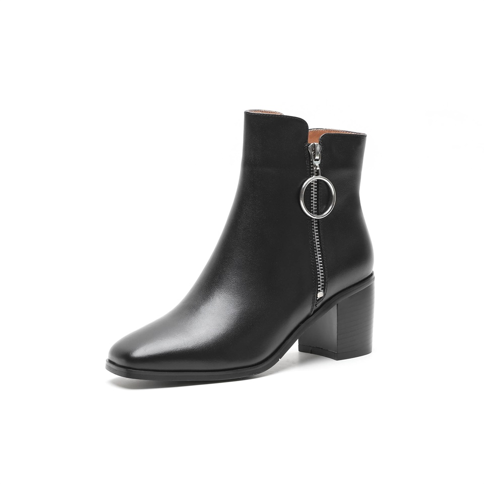 Bottes 5 Confortable Supérieure 2019 Chaussures Suede 6 Bout Matériel Qualité Black Printemps Carré De Cuir Cm Talon En noir Mode Femmes Haut Automne PPrHIwWZfq