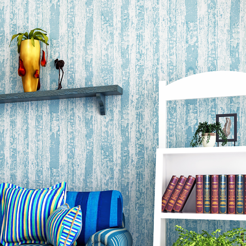 Mediterranean Blue Striped Wood Grain Wallpaper Roll For Walls Papel De Parede 3D Modern Living Room Wall Decoration Pure Color крис де бург chris de burgh far beyond these castle walls