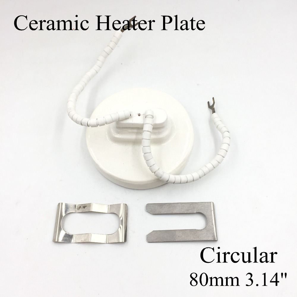 220V 80/100/120/140/160mm 500W White IR Infrared Circular/Round Ceramic Heater Plate Air Heating Board Pad For BGA Station Mould ceramic heater board 120 120mm 220v 230v 150w white flat top upper infrared ceramic heating plate for bga station heater heating